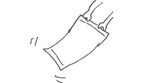 タオルを振るマーク