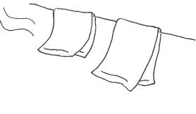 タオルを干すマーク