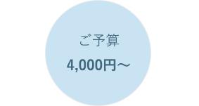 ご予算4,000円