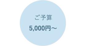 ご予算5,000円