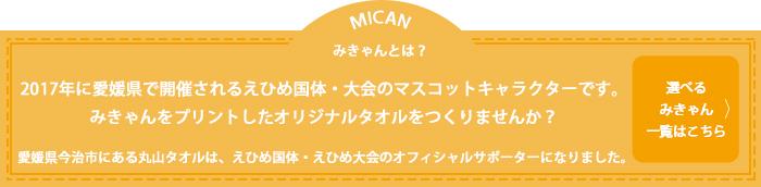 みきゃんとは、愛媛県のキャラクターです。